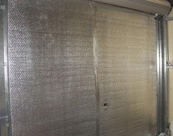 panel lift garage door insulation